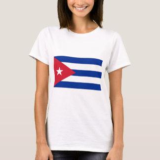 T-shirt de femmes avec le drapeau du Cuba