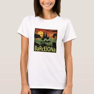 T-shirt de femmes de Barcelone