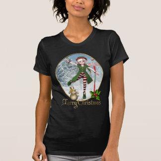 T-shirt de femmes de Sadie Elf de Joyeux Noël