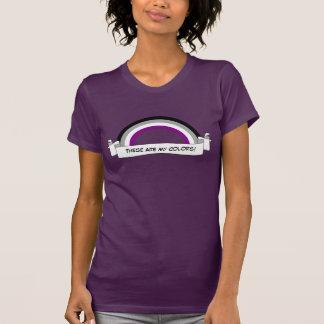 T-shirt de fierté d'arc-en-ciel d'Asexuality