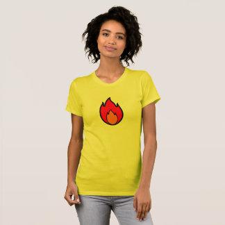 T-shirt de fille de flamme