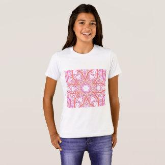 "T-shirt de fille de ""fleur de Cosmo"" de mandala"