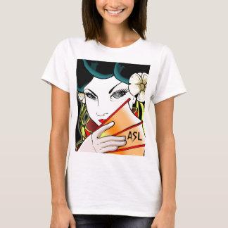T-shirt de fille de geisha