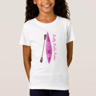 T-shirt de fille de kayak