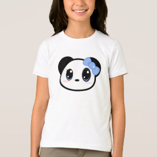 T-shirt de fille de panda de Chibi