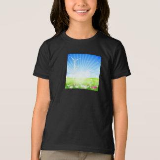 T-shirt de filles de ferme de vent