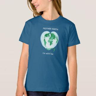T-shirt de filles de mars de la Science - Terre