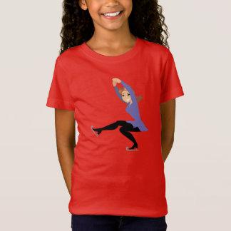 T-shirt de filles de patinage artistique