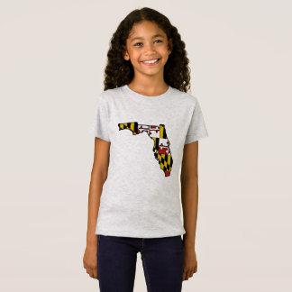 T-shirt de filles d'ensemble de la Floride de