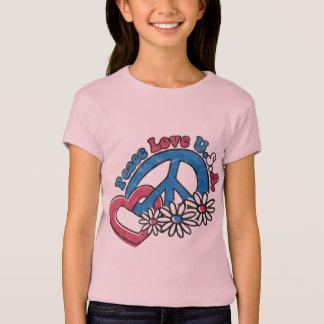 T-shirt de filles des Etats-Unis d'amour de paix