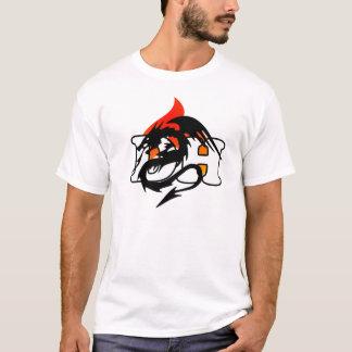 T-shirt de flamme de CAD