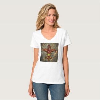 T-shirt de Fleur-De-Lis d'écrevisses