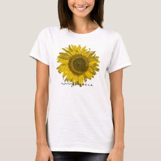 T-shirt de fleur de tournesol