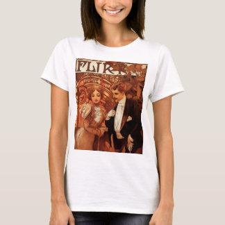 T-shirt de flirt d'Alphonse Mucha