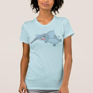 T-shirt de flottement de femmes d'éléphant de