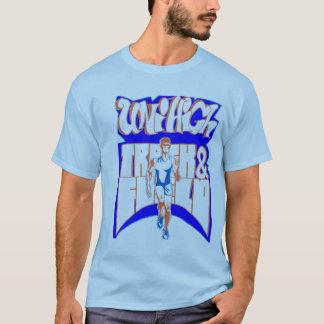 T-shirt de fonctionnaire de l'athlétisme du garçon