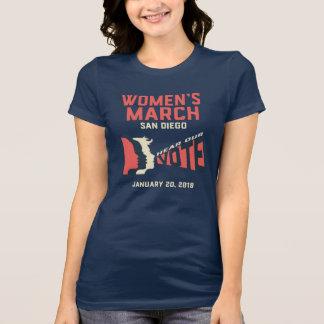 T-shirt de fonctionnaire de mars San Diego des