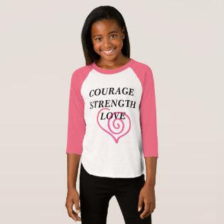 T-shirt de force et d'amour de courage