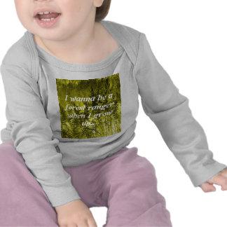 T-shirt de forêt de nature d'enfants