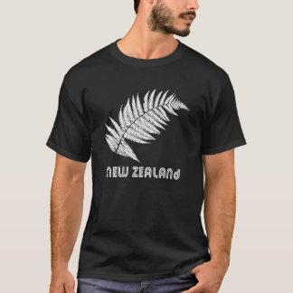 T-shirt de fougère argentée de la Nouvelle Zélande