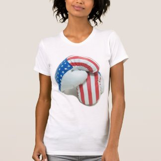 T-shirt de gants de boxe de drapeau américain