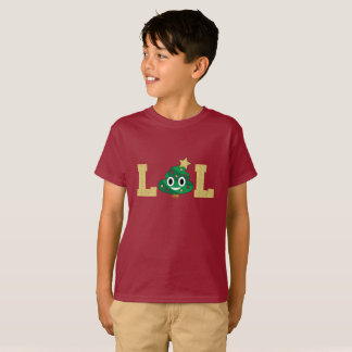 T-shirt de garçons d'Emoji de dunette d'arbre de