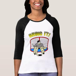 T-shirt de gardien de but du pingouin des femmes