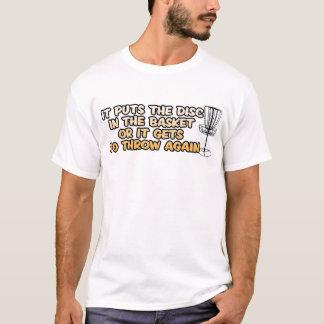 T-shirt de golf de disque