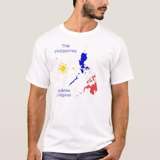 T-shirt de graphique de carte de Philippines