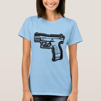 T-shirt de graphique de pochoir d'arme à feu