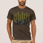 T-shirt de graphiques de ville de musique
