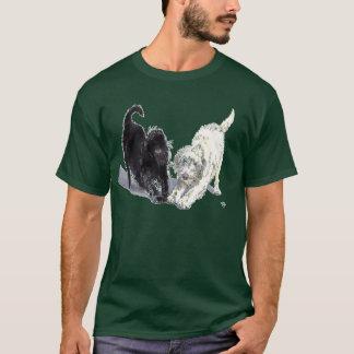 T-shirt de griffonnage de Labradoodle