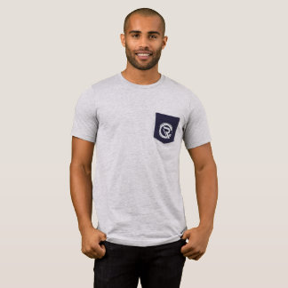 T-shirt de gris de la poche des hommes de centre