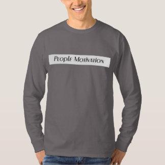 T-shirt de gris de motivation de personnes