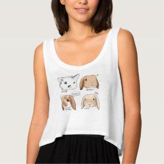 T-shirt de groupe de lapin