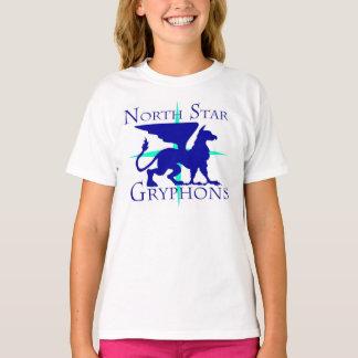 T-shirt de Gryphons de l'étoile du nord des filles
