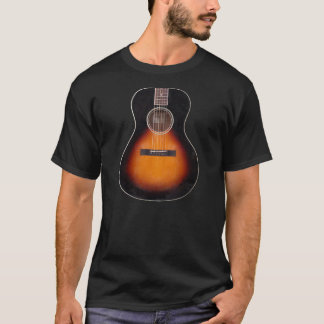 T-shirt de guitare acoustique de rayon de soleil