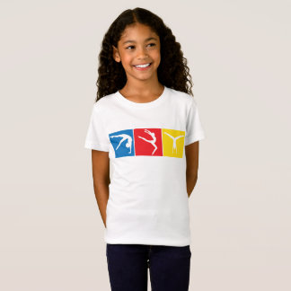 T-shirt de gymnastique de filles