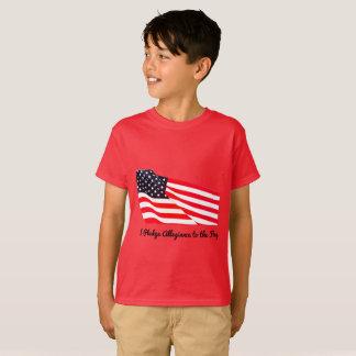 T-shirt de Hanes de drapeau d'allégeance de