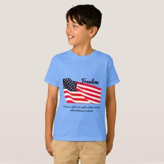 T-shirt de Hanes TAGLESS® de drapeau de la liberté