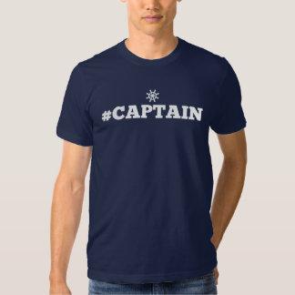 T-shirt de hashtag de #captain