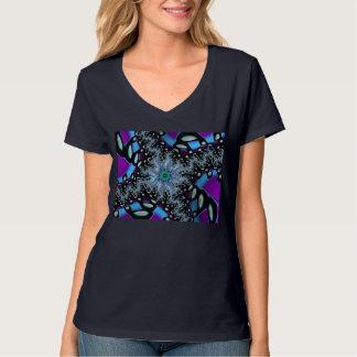 T-shirt de haut 1 de v-cou de mille