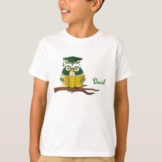 T-shirt de hibou de lecture