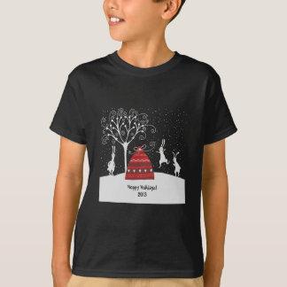 T-shirt de houblon de vacances de lapin d'hiver