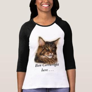 T-shirt de jersey de chat de ragondin de Ben