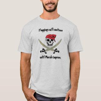 T-shirt de jolly roger de Floggings de pirate