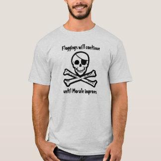 T-shirt de jolly roger de moral de pirate