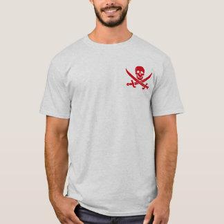 T-shirt de jolly roger de pirate d'épée