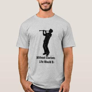 T-shirt de joueur de clarinette