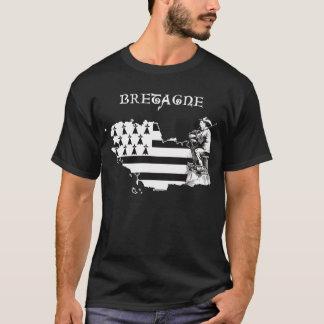T-shirt de joueur de pipeau de la Bretagne